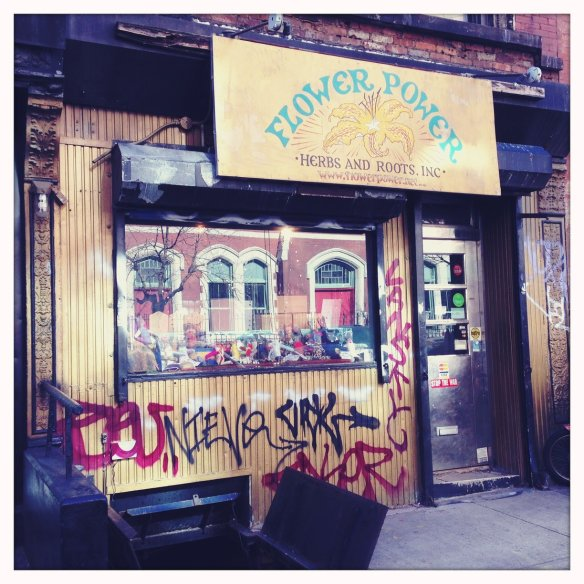 Flower Power herb shop in the East Village