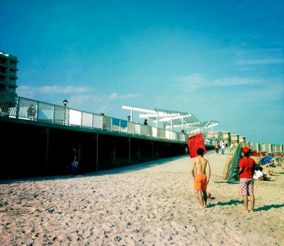 new boardwalk ramp. hipstamatic: john s. lens & blanko film