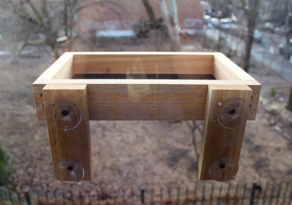 Backyard Boys Woodworking tray feeder.