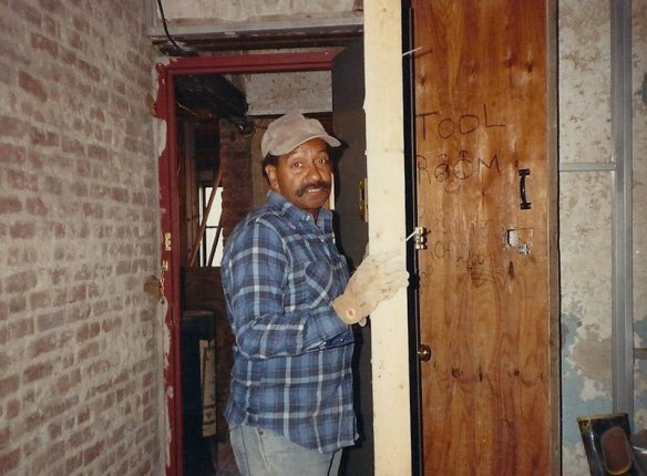 Homesteader Jay Goodson at the tool room which became our back bedroom