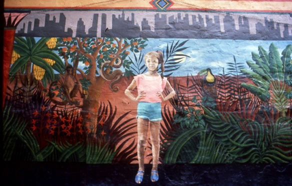 The Enchanted Garden Mural detail