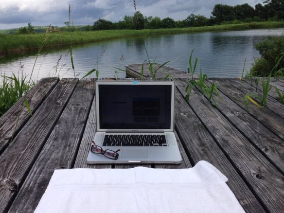 This is my friend's swimming pond and I can work from there.