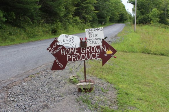 the roadside sign