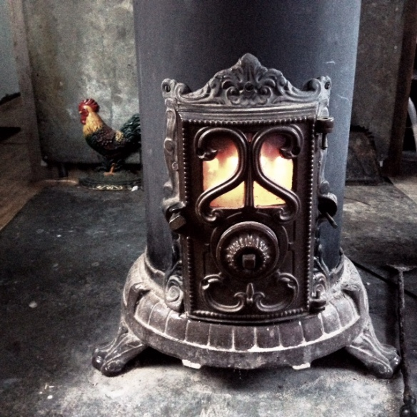 A French parlor wood stove from the early 1900's.