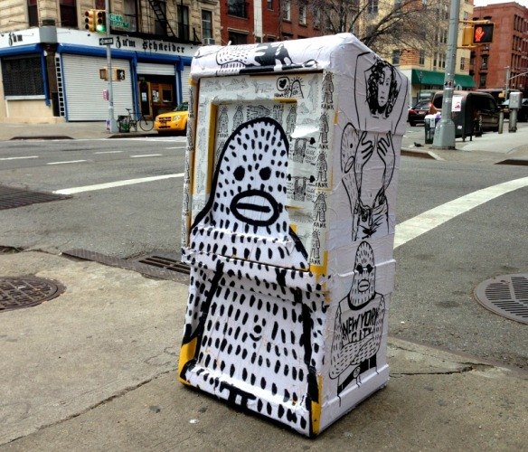 Frank Ape news stand on Loisaida Ave.