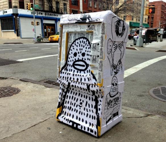 Frank Ape news stand on Loisaida Ave.
