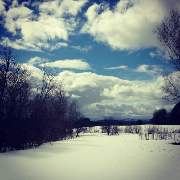 The edge between winter and spring in Vermont