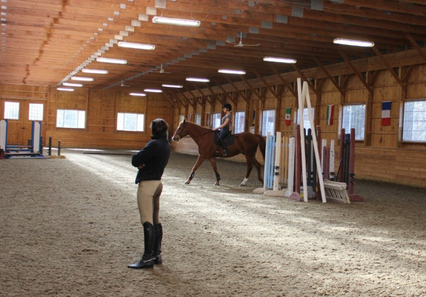 Camelia Montalvo teaching dressage lesson New Paltz, New York