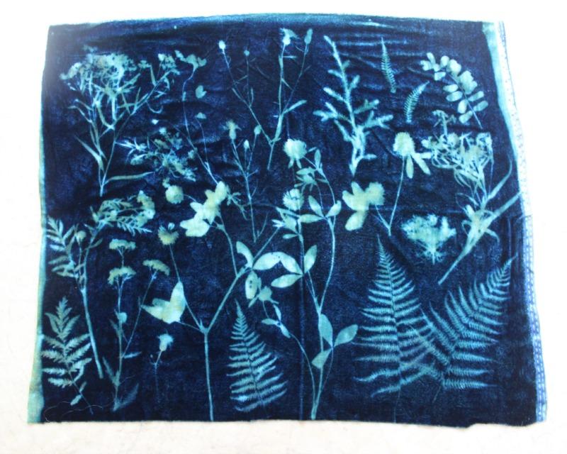 Cyanotype On Fabric Loisaida Nest
